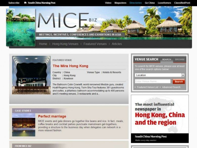 MICE - South China Morning Post
